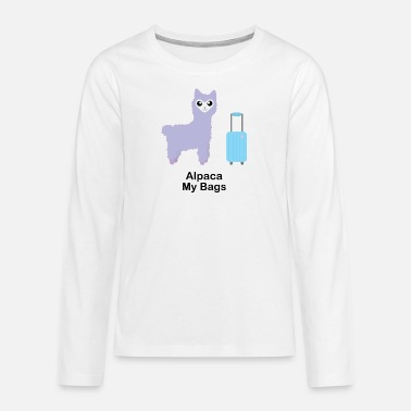 Alpaca My Bags (Purple) - Teenage Premium Longsleeve Shirt