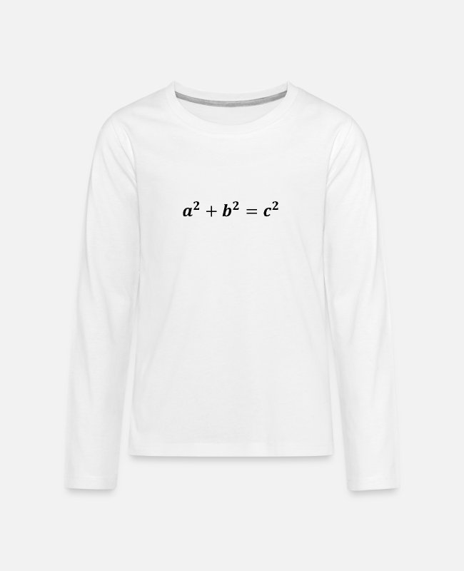 Maths Long-Sleeved Shirts - Pythagorean theorem - Teenage Premium Longsleeve Shirt white