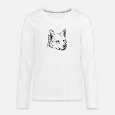 Vector Dog - vector - Teenage Premium Longsleeve Shirt