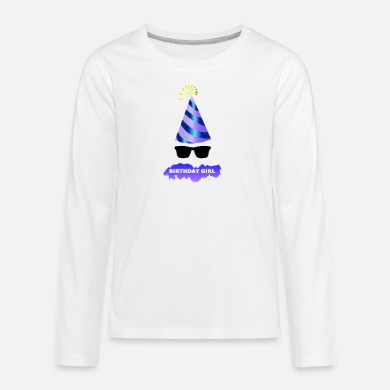 Party Long sleeve shirts - Birthday Girl 1 Birthday Party - Teenage Premium Longsleeve Shirt white