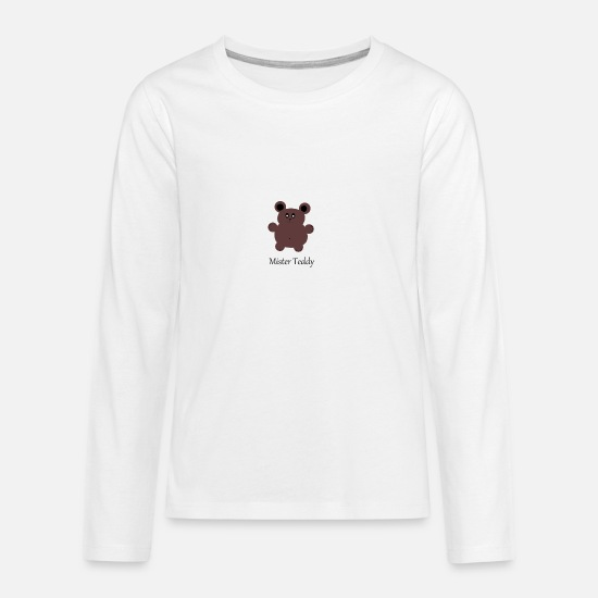 Gift Idea Long sleeve shirts - Teddy - sweet - children - babies - gift idea - Teenage Premium Longsleeve Shirt white