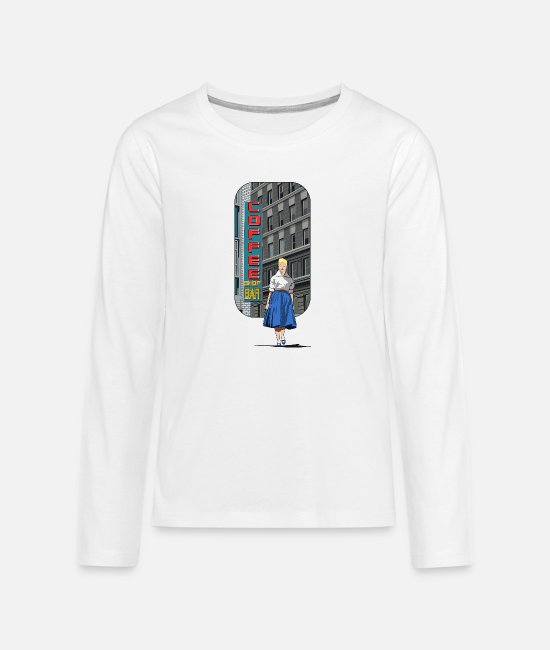 Architecture Long sleeve shirts - America - Teenage Premium Longsleeve Shirt white