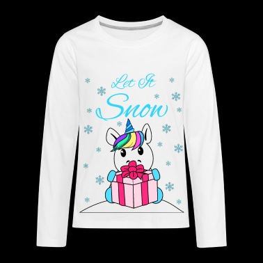 Let it snow - Maglietta Premium a manica lunga per teenager