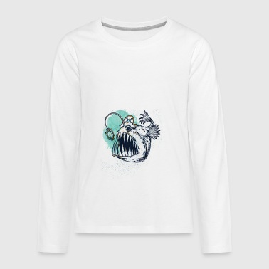 frogfish Aquarel - Teenager Premium shirt met lange mouwen