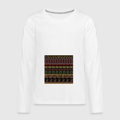 Tribal dessiné à la main - T-shirt manches longues Premium Ado