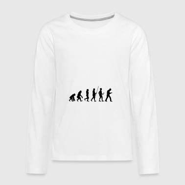 Evolution to addiction t-shirt gift - Teenagers' Premium Longsleeve Shirt