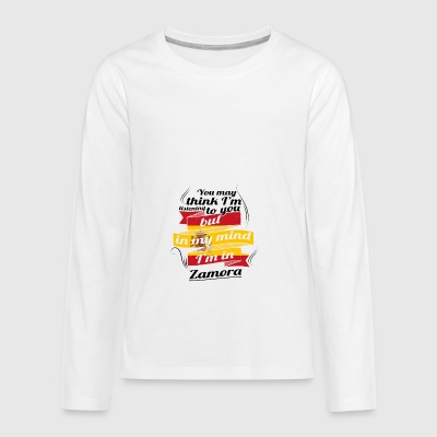 HOLIDAY Spain espanol TRAVEL IN IN Spain Zamora - Teenagers' Premium Longsleeve Shirt