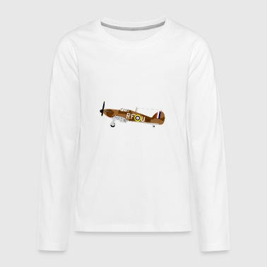 Fighter plane from the 2nd World War - Teenagers' Premium Longsleeve Shirt