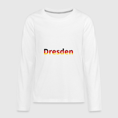 Dresden / Germany / Germany - Grunge Effect - Teenagers' Premium Longsleeve Shirt