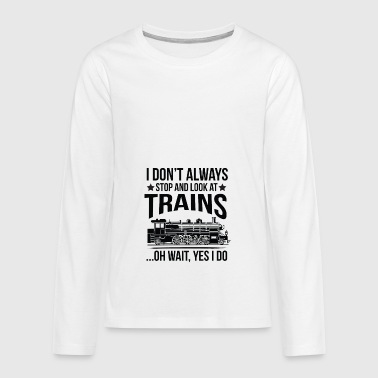 Funny Gift - Miniature Railway Train - Teenagers' Premium Longsleeve Shirt