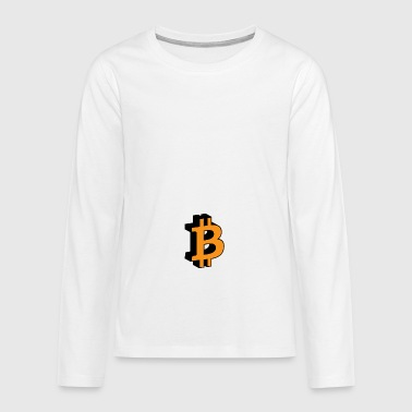 Bitcoin 3D Icon - Teenager Premium shirt met lange mouwen
