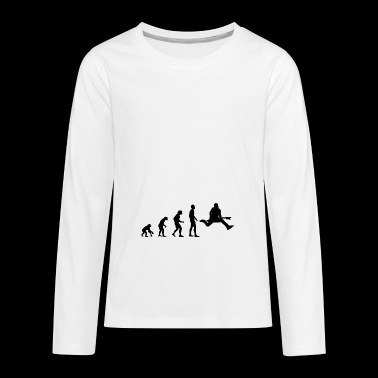 Gitarrist Evolution - Teenager Premium Langarmshirt