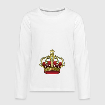 krone crown koenig king castle schloss tower burg2 - Teenager Premium Langarmshirt