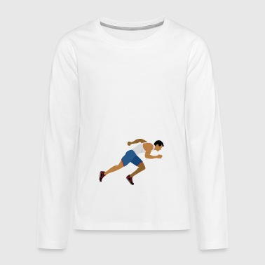 Athlete (sprinting) - Teenagers' Premium Longsleeve Shirt