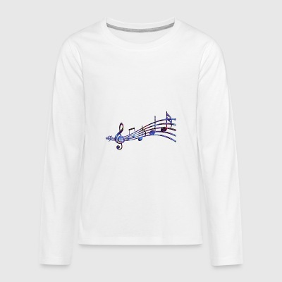 Starry musical scope - Teenagers' Premium Longsleeve Shirt
