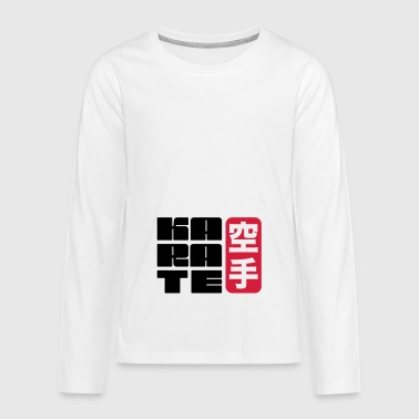 karate - Teenagers' Premium Longsleeve Shirt