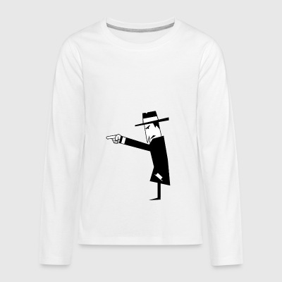 Spy with hat - Teenagers' Premium Longsleeve Shirt