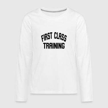 First class training - Teenagers' Premium Longsleeve Shirt