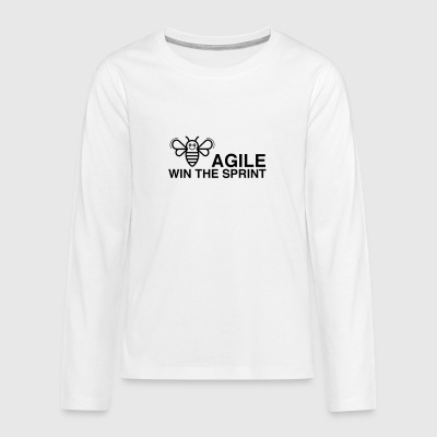 BE AGILE WIN THE SPRINT - Teenagers' Premium Longsleeve Shirt