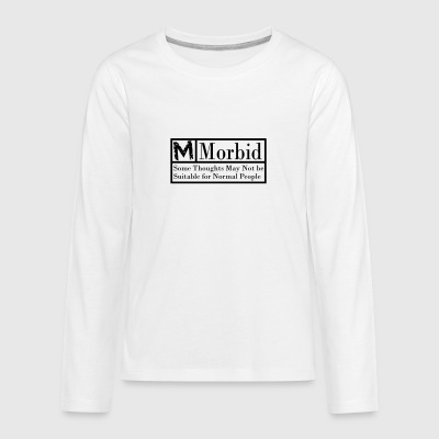 Morbid black warning label - Teenagers' Premium Longsleeve Shirt