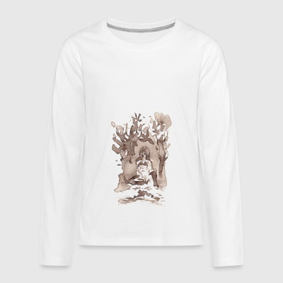 forest woman - Teenagers' Premium Longsleeve Shirt