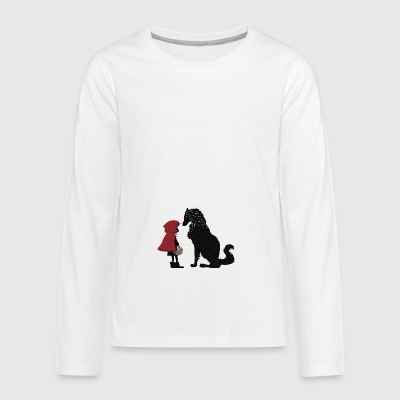 Little Red Riding Hood and the bad wolf - Teenagers' Premium Longsleeve Shirt