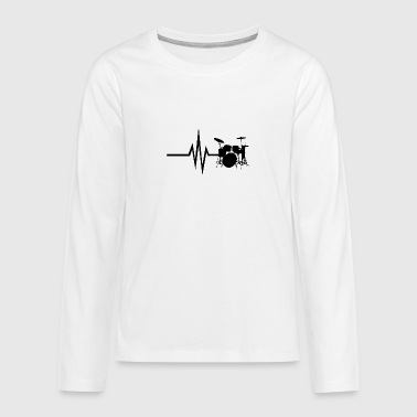 My heart beats for drums - Teenagers' Premium Longsleeve Shirt