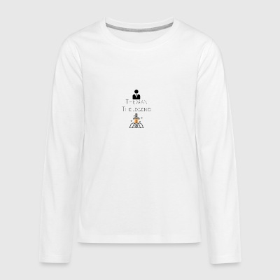 The man The legend - Teenagers' Premium Longsleeve Shirt