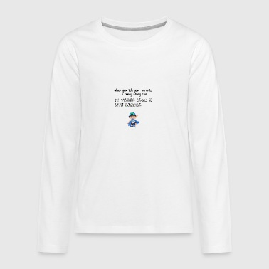 Funny story for my parents - Teenagers' Premium Longsleeve Shirt