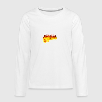 Fire guitar - Teenagers' Premium Longsleeve Shirt