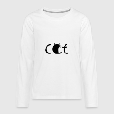 6061912 122281462 cat - Teenagers' Premium Longsleeve Shirt