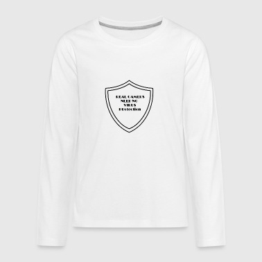 Real Gamers need no virus protection - Teenagers' Premium Longsleeve Shirt