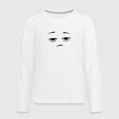 Bored Smiley Sourire - T-shirt manches longues Premium Ado