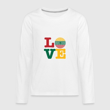 LITHUANIA HEART - Teenagers' Premium Longsleeve Shirt