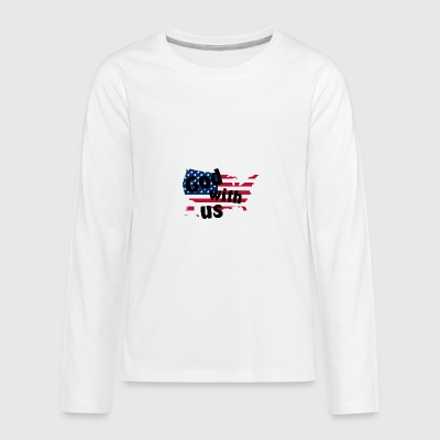 God with us - Teenagers' Premium Longsleeve Shirt