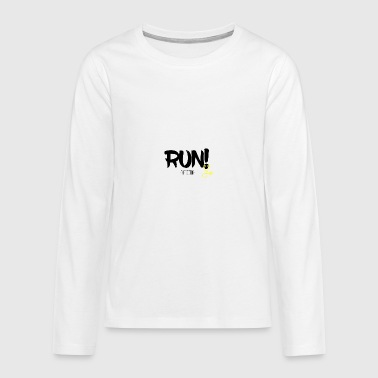 RUN! - Teenagers' Premium Longsleeve Shirt