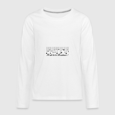 There is happiness - Teenagers' Premium Longsleeve Shirt