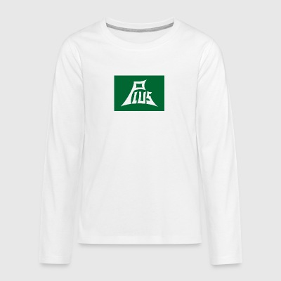 Plus green white - Teenager Premium Langarmshirt