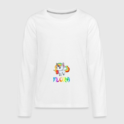 Unicorn flora - Teenagers' Premium Longsleeve Shirt