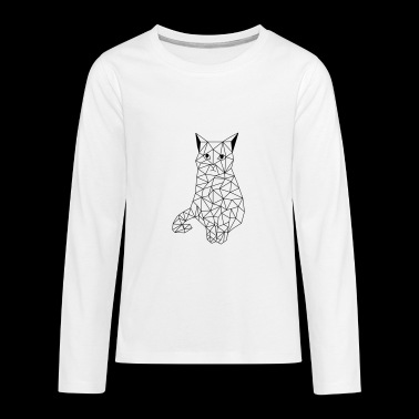 Cat geometric - Teenagers' Premium Longsleeve Shirt