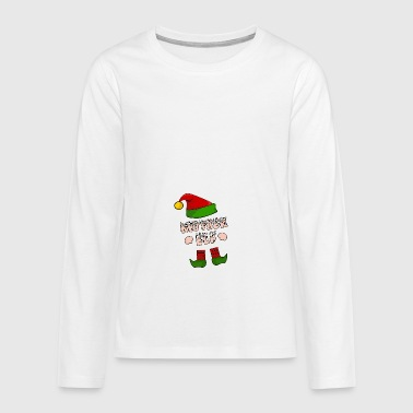 Mother Elf - Mom Elf - Christmas Gift - Teenagers' Premium Longsleeve Shirt