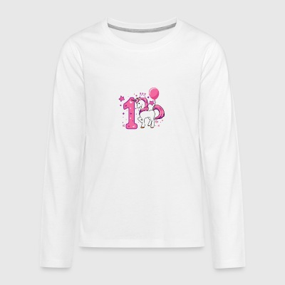 First birthday, gift first birthday - Teenagers' Premium Longsleeve Shirt