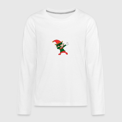 Dabbing Elf Ugly Shirt - Teenagers' Premium Longsleeve Shirt
