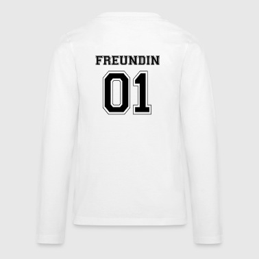 Vriendin - Black Edition - Teenager Premium shirt met lange mouwen