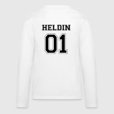 HELDIN 01 - Black Edition - Teenagers' Premium Longsleeve Shirt