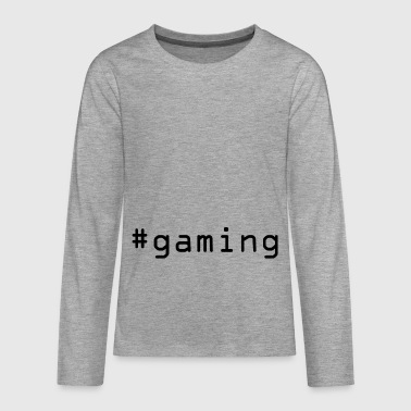 #gaming - Teenagers' Premium Longsleeve Shirt