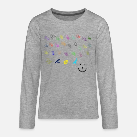 Kita Long sleeve shirts - Alphabet Collection - Teenage Premium Longsleeve Shirt heather grey