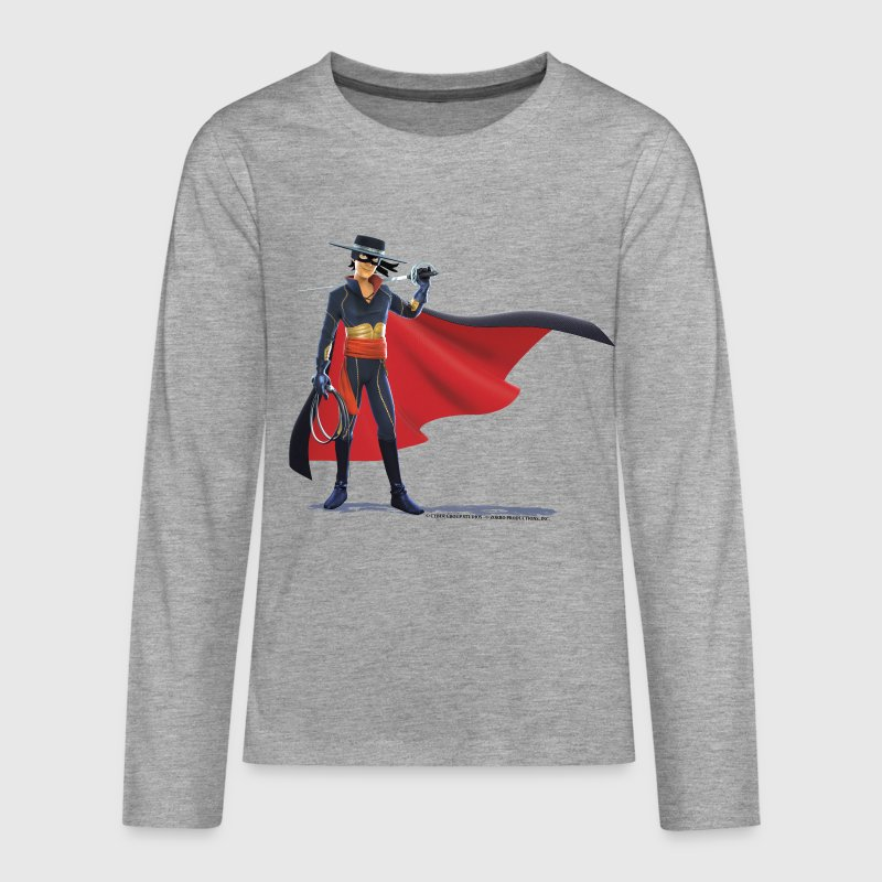 Zorro The Chronicles With Sword And Whip - Teenagers' Premium Longsleeve Shirt