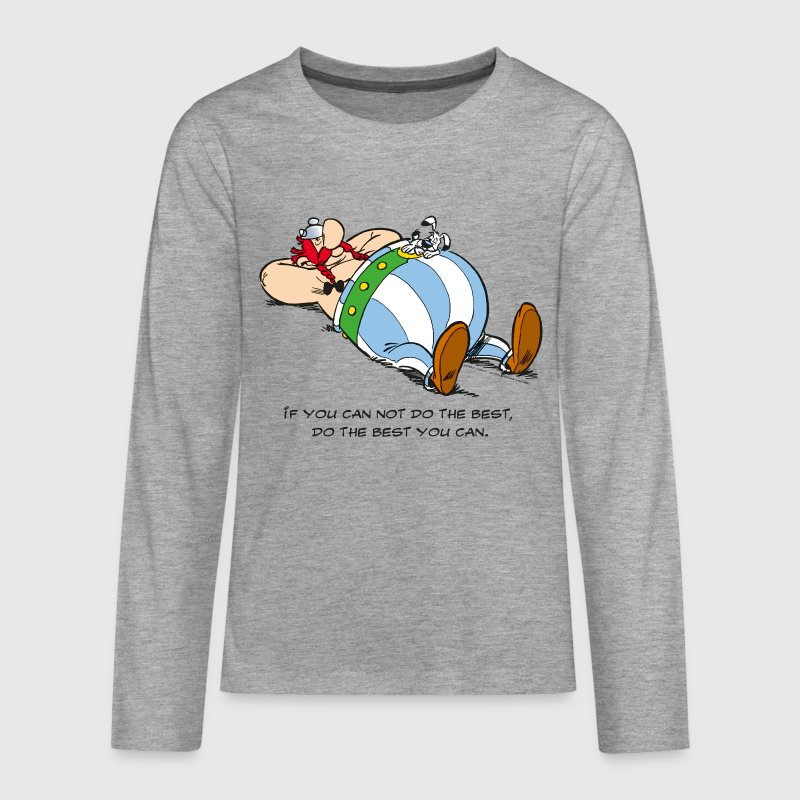 Asterix & Obelix - If You Can Not Do Best - Teenagers' Premium Longsleeve Shirt