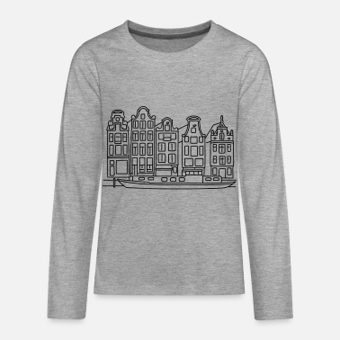 Amsterdam Amsterdam Canal houses - Teenagers' Premium Longsleeve Shirt